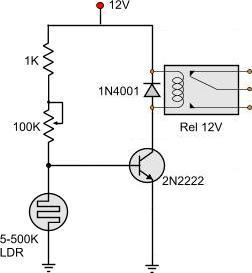 Count The Number Of Flashes On A Yellow Led With 1 Wire on ldr circuit pcb