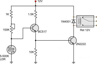 wiring diagram for a 12v relay with Light Dark Activated Relay on Showthread in addition Controlar Rele Con Transistor as well Understanding Relays also Refrigerator  missioning besides How To Wire A Dump Trailer Remote.