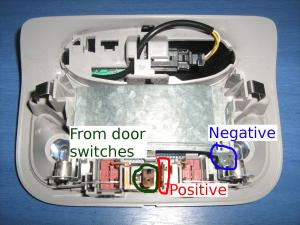 car dome light off delay you should 3 connectors in the dome light shell