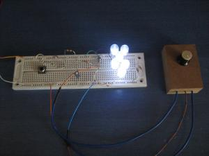 led off delay dimming effect