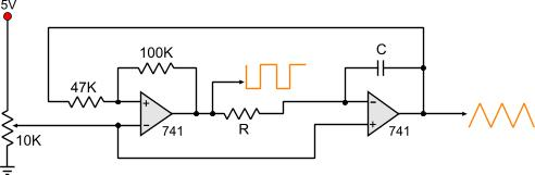 triangle wave generatorfollowing is the circuit diagram