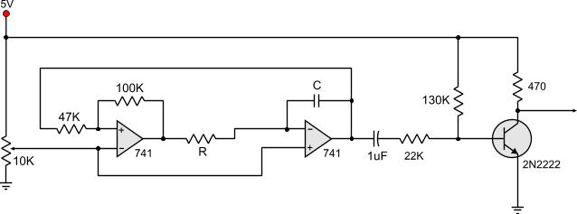 triangle wave generator, wiring diagram