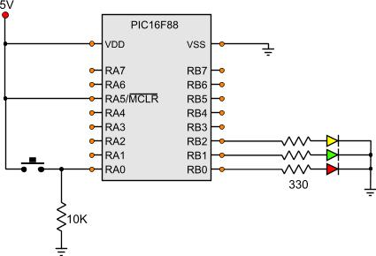 PIC Tutorial - A Clever Button - Microchip PIC microcontroller