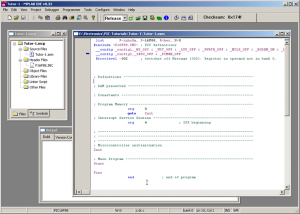 Your very first assembly program - Microchip PIC microcontroller