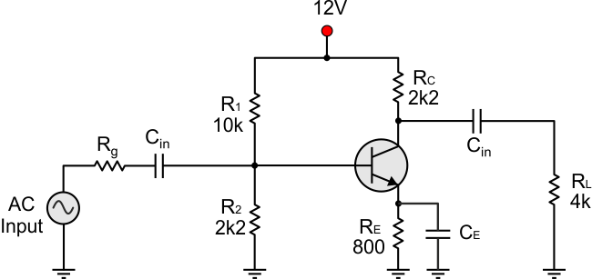 Bjt transistor theory as always we suppose that the transistor is biased with a voltage divider and the emitter has also a small feedback resistor lets remember how vce is ccuart Images