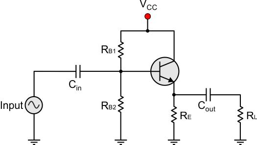 external ac emitter resistance formula